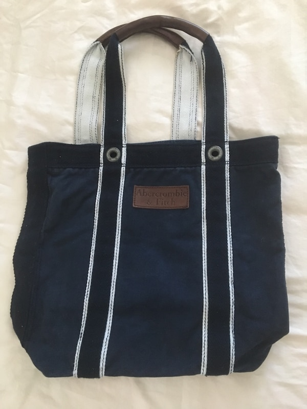 Abercrombie Navy Tote Bag
