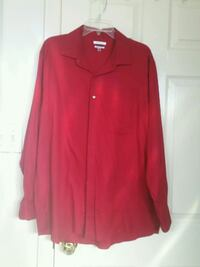 red button-up long-sleeved shirt Laredo, 78043