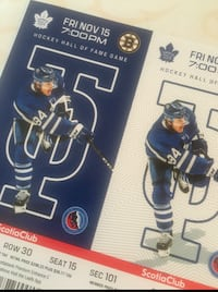 Leafs vs Bruins This Friday night Vaughan, ON, Canada