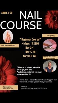 Cours pour pose d'ongle professionnel  Brossard