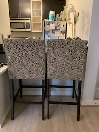 Ethan Allan leopard barstools chairs