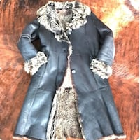 MANZARI Real Leather and Fur Italian Shearling Coat - Size S/M Hanover, 21076