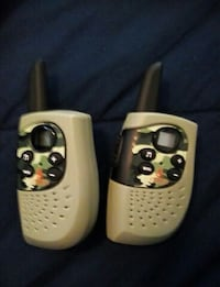 white and black two way radio