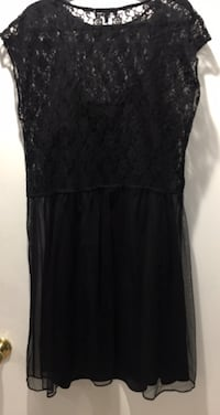 ASOS curve black lace dress 37 km