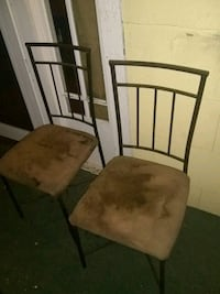 two brown wooden framed padded chairs Attalla, 35954