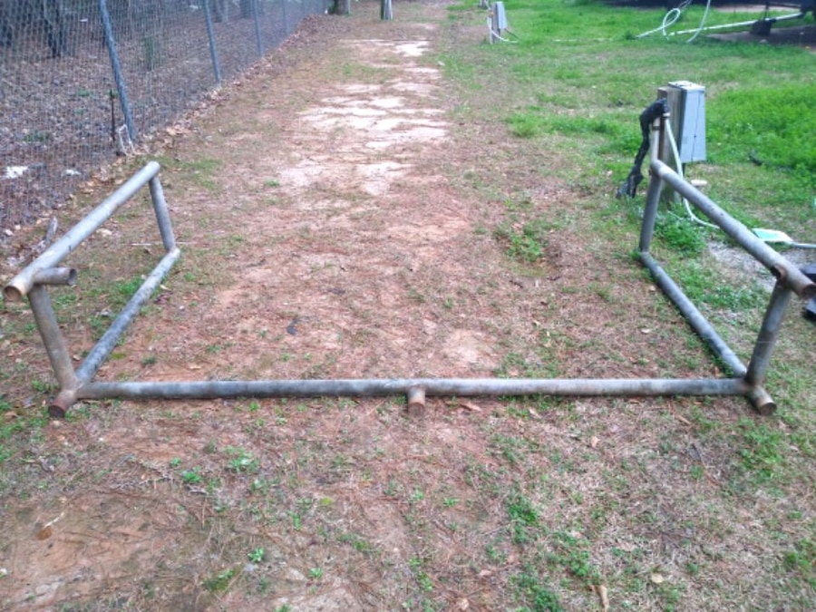 Photo Tire stacker 7' wide 5' tall, or could be used as as base for swing ,