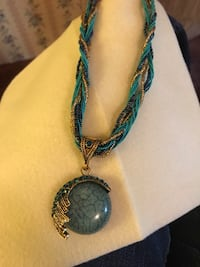 Turquoise/gold necklace (NEW) Lafayette, 47905