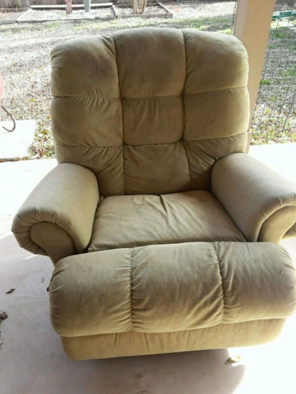 Used Brown Leather Recliner Sofa Chair For Sale In Denton Letgo