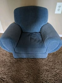 blue fabric padded sofa chair Gaithersburg, 20878