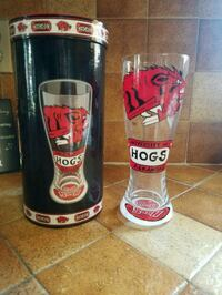 Hand painted Razorback glass Rogers, 72758