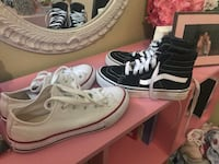 Pair of white-and-black vans sneakers Tomball, 77377