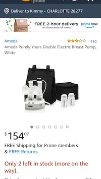 New in box. Ameda purely yours breast pump Charlotte, 28277