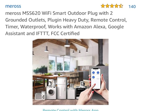 BRAND NEW MEROSS MSS620 WIFI SMART OUTDOOR PLUG