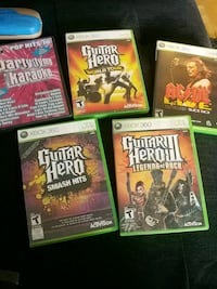 four assorted Xbox 360 game cases