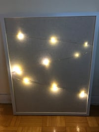 Twinkle light photo board