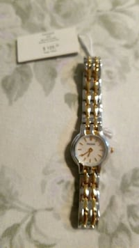 round silver analog watch with link bracelet Tampa, 33635