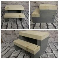 New Rustic Farmhouse Steps Natural Steps Classic Gray Base new Abbotsford