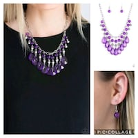 Beauty school drop out purple necklace  Gaithersburg