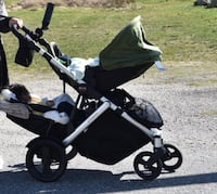Baby's black and gray stroller 3730 km