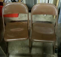 2 Metal Folding Chairs