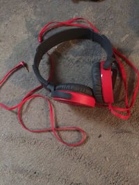 red and black corded full-size headphones Kitchener, N2C 1J6