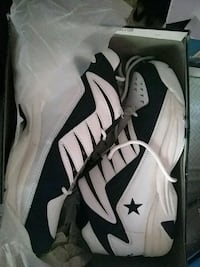 pair of white-and-black Nike basketball shoes Herkimer, 13350