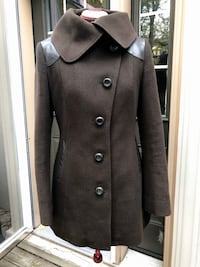 Mackage Wool and Leather Coat, Medium Toronto, M4L
