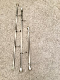Brushed chrome Curtain rod lot Fircrest, 98466
