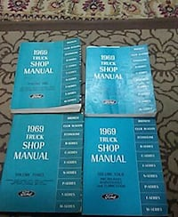 three 1969 truck shop manual booklets 242 mi