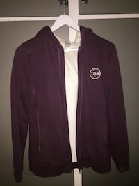 Maroon Team zip-up hettegenser