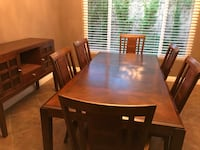 Brown table 6 chairs & side buffet Lakeside, 92040