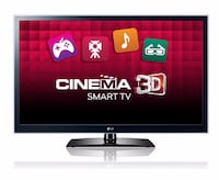 LG 55-inch LED 3D Smart TV television with 10 pairs of glasses