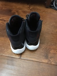 Pair of black-and-white nike basketball shoes McDonough, 30253