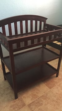 Brown wooden diaper changing table Cutler Bay, 33189