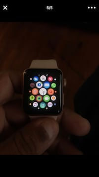 space gray aluminum case Apple Watch with black sport band Washington, 20019