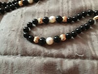 14kt gold, cultured pearl and onyx necklace Rockville, 20850