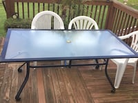 rectangular black metal framed glass top patio table Haymarket, 20169
