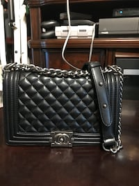 black leather quilted crossbody bag Tulsa, 74135