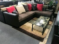 BRAND NEW IN BOX-Sectional w/ multicolored pillows Rosedale, 21237
