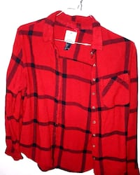 red and black button-up long-sleeved shirt Burnaby, V3N