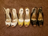 Bundle price Slingback, white, yellow, and brown  Odenton