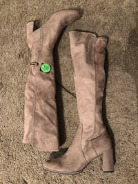 Brand new Liz Claiborne LC LEYLA taupe  Over The Knee Ladies Boots size 8.5 177 mi