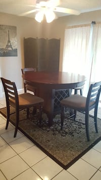 Dining table with wine rack base