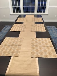 Brown wooden table decor