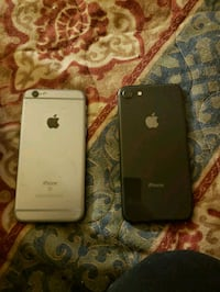 silver iPhone 6 with black case Calgary, T3B 0M7