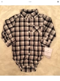 black and gray plaid button-up shirt Killeen, 76549