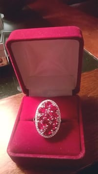 Solid Sterling Silver .925 Real RED Rubys- Brand New Memphis