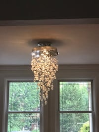 gold-colored and green pendant lamp Montréal-Ouest, H4X 1T7
