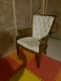 white padded chair armchair Airdrie, T4A 0H2