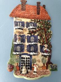 "3D  Ceramic wall plaque 18"" tall x12"" wide"